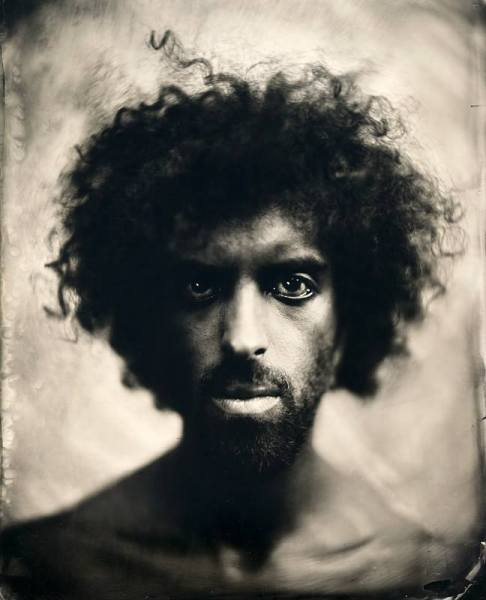 Ambrotype by Eric Antoine from the exhibition at the Laurence Esnol Gallery